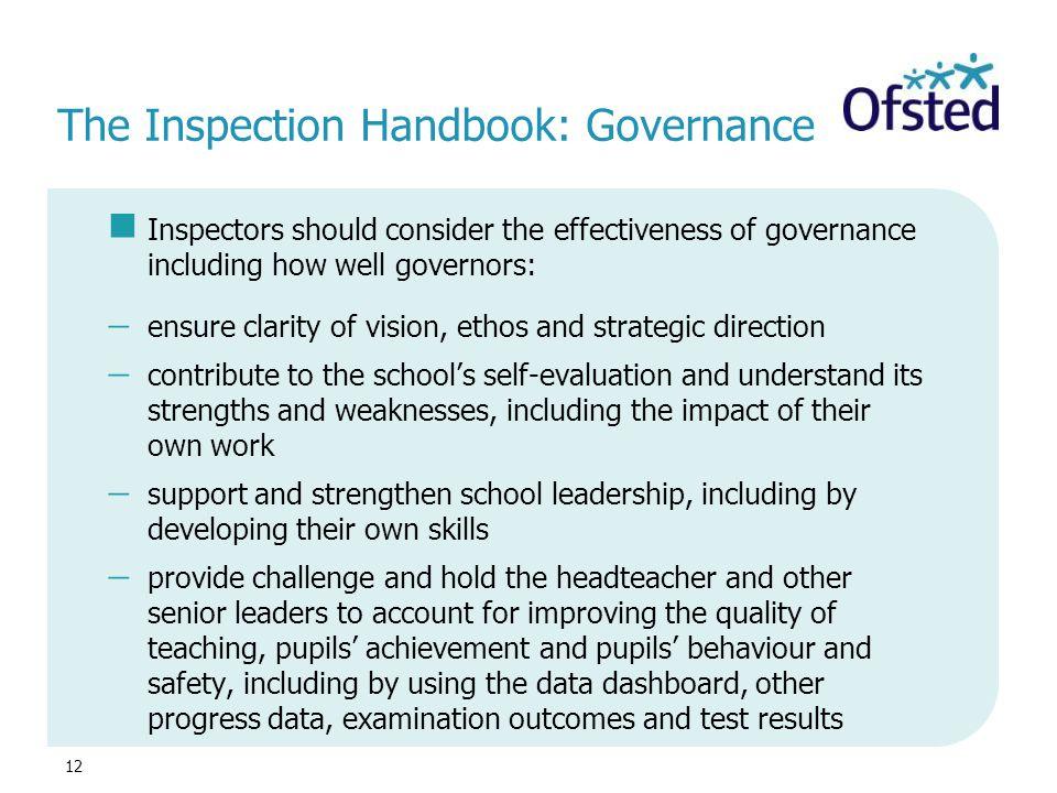 The Inspection Handbook: Governance