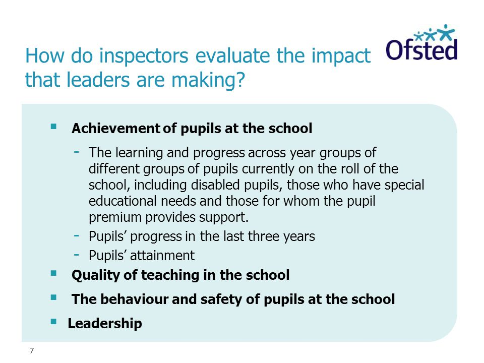 How do inspectors evaluate the impact that leaders are making