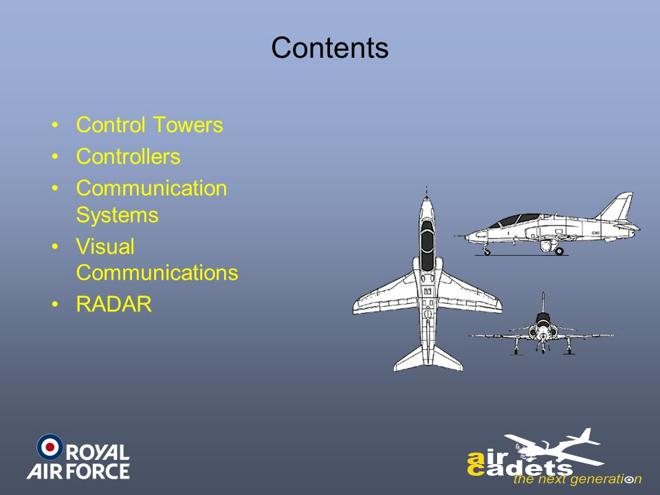 Contents Control Towers Controllers Communication Systems