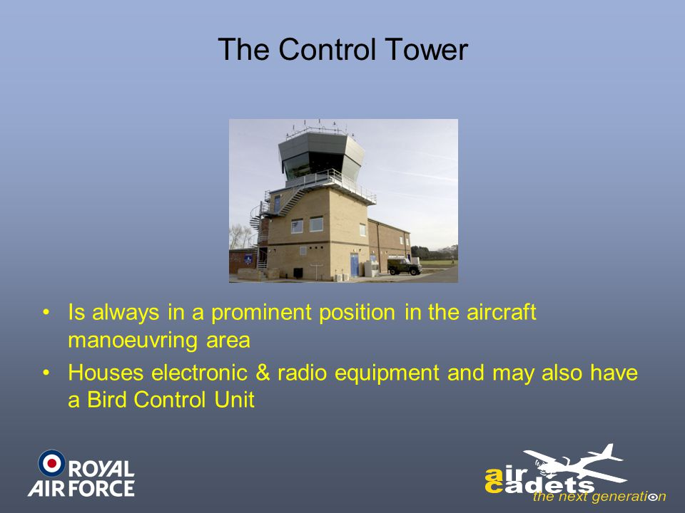The Control Tower Is always in a prominent position in the aircraft manoeuvring area.