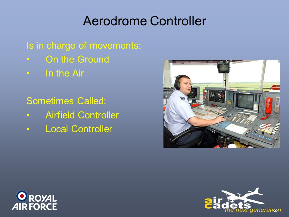 Aerodrome Controller Is in charge of movements: On the Ground