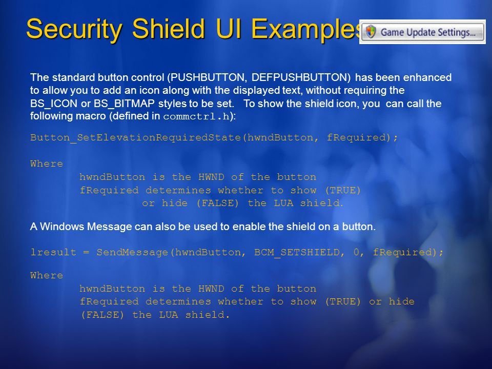 Security Shield UI Examples