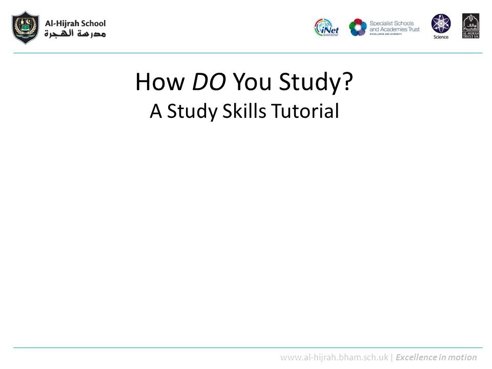 How DO You Study A Study Skills Tutorial