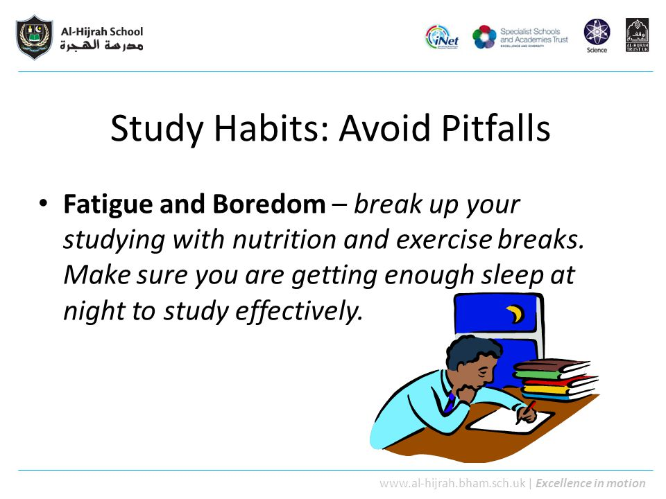 Study Habits: Avoid Pitfalls