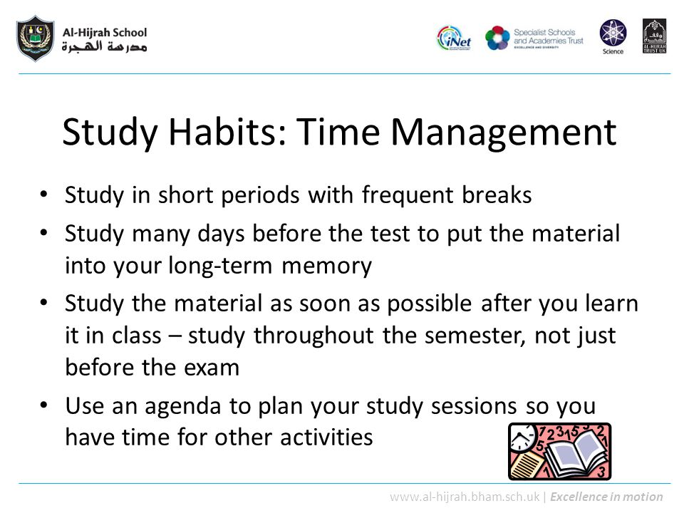 Study Habits: Time Management