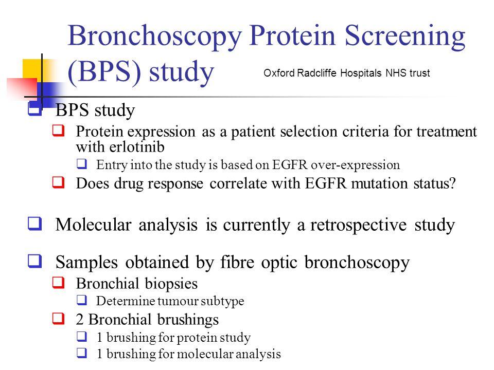 Bronchoscopy Protein Screening (BPS) study