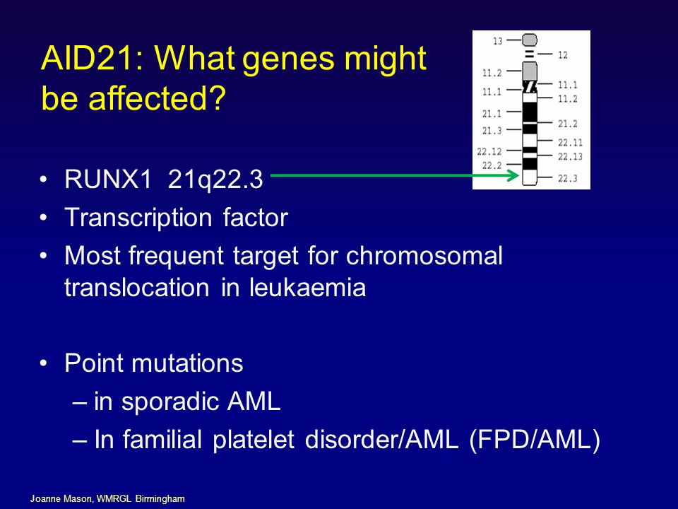 AID21: What genes might be affected