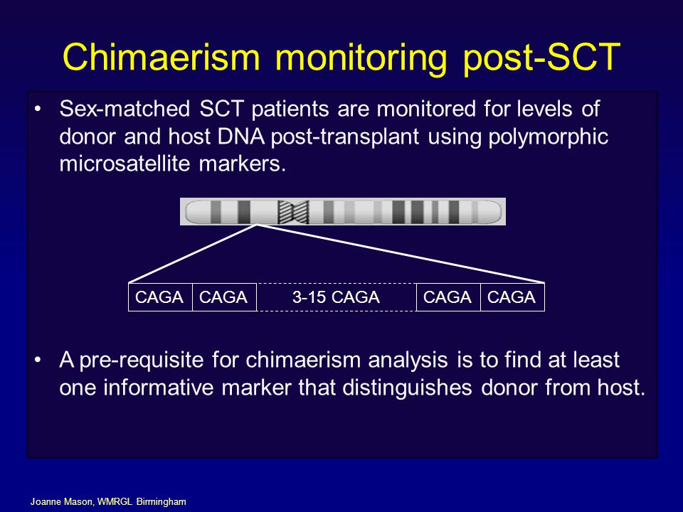 Chimaerism monitoring post-SCT