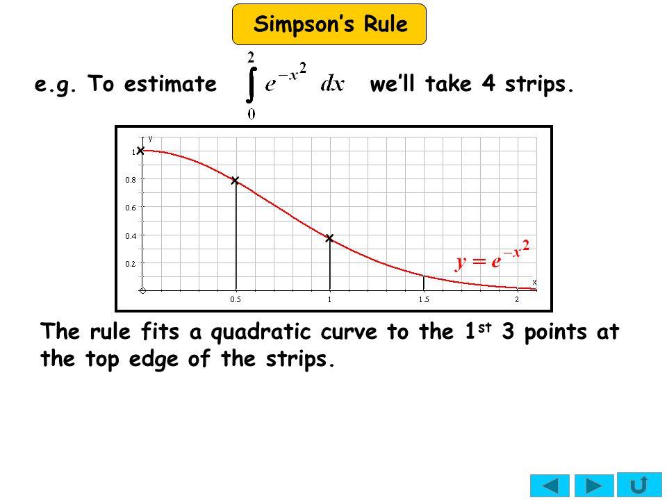 e.g. To estimate we'll take 4 strips.