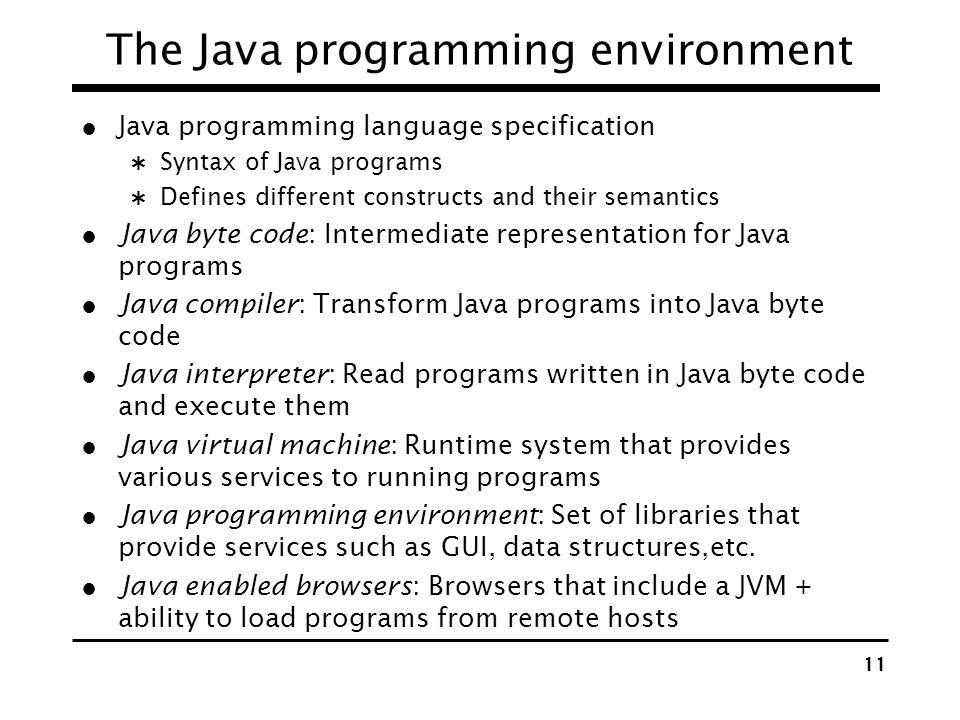 The Java programming environment
