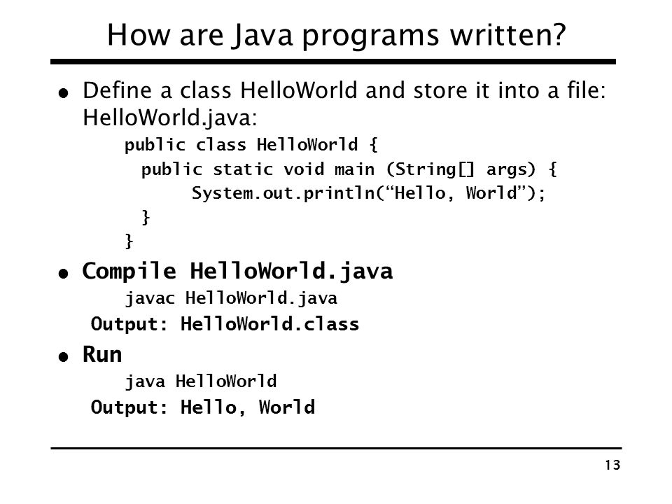 How are Java programs written