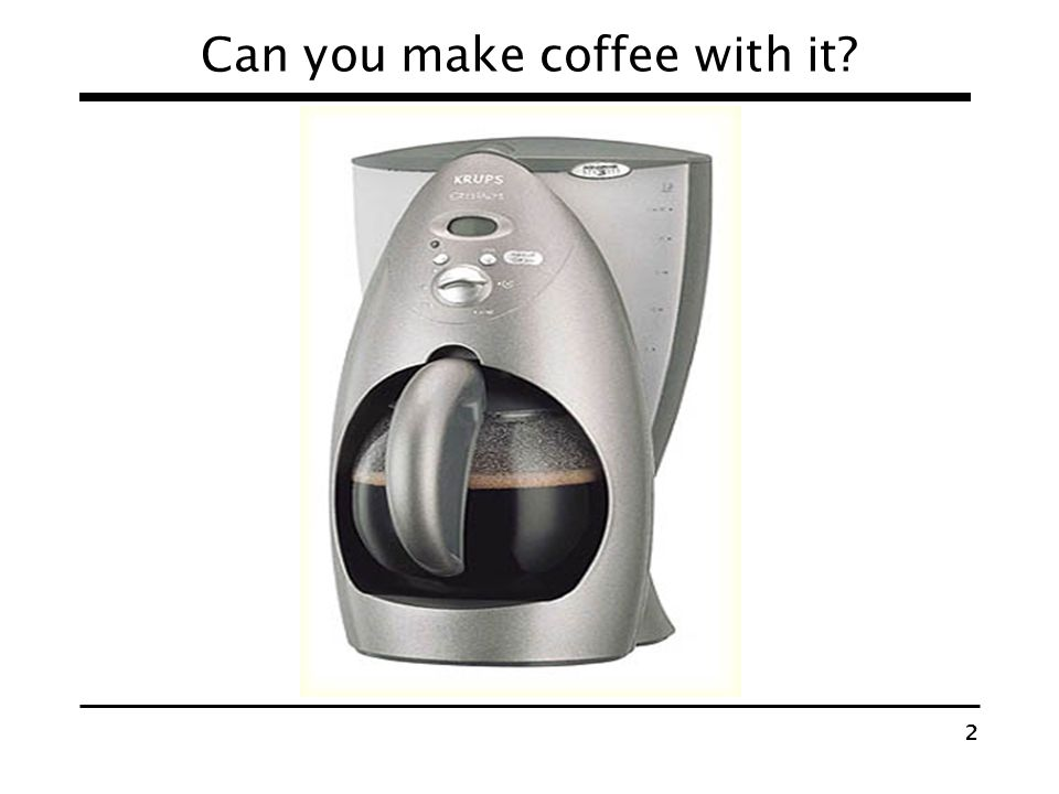Can you make coffee with it