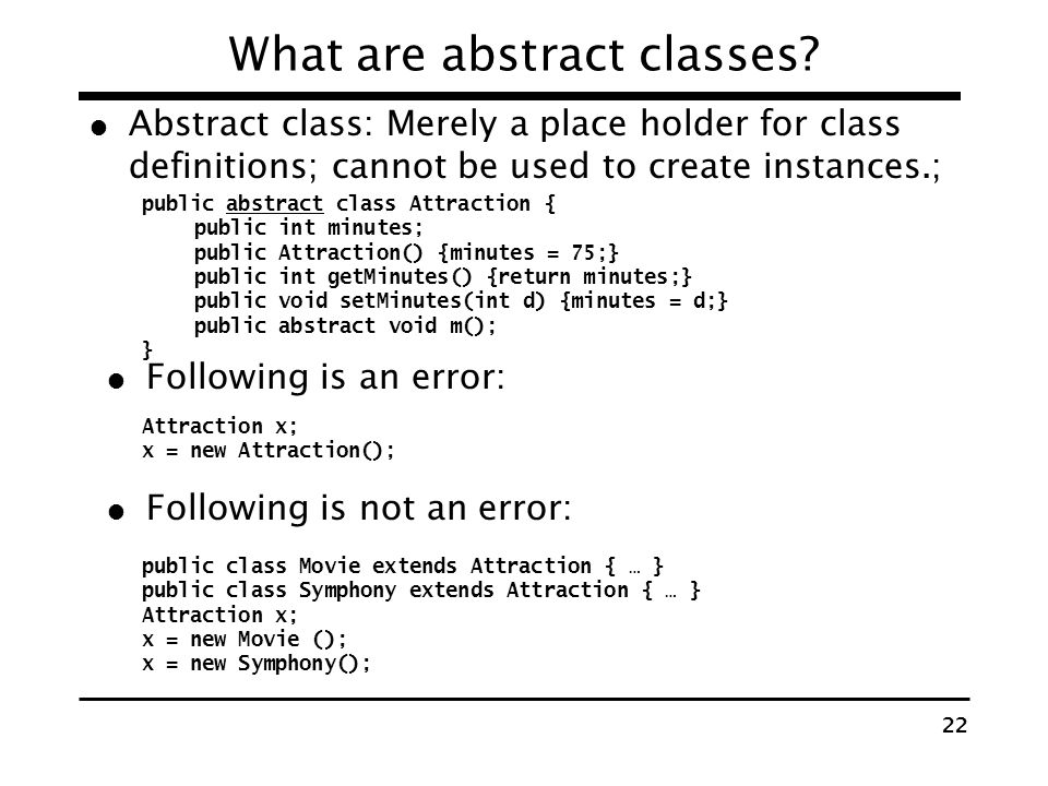What are abstract classes