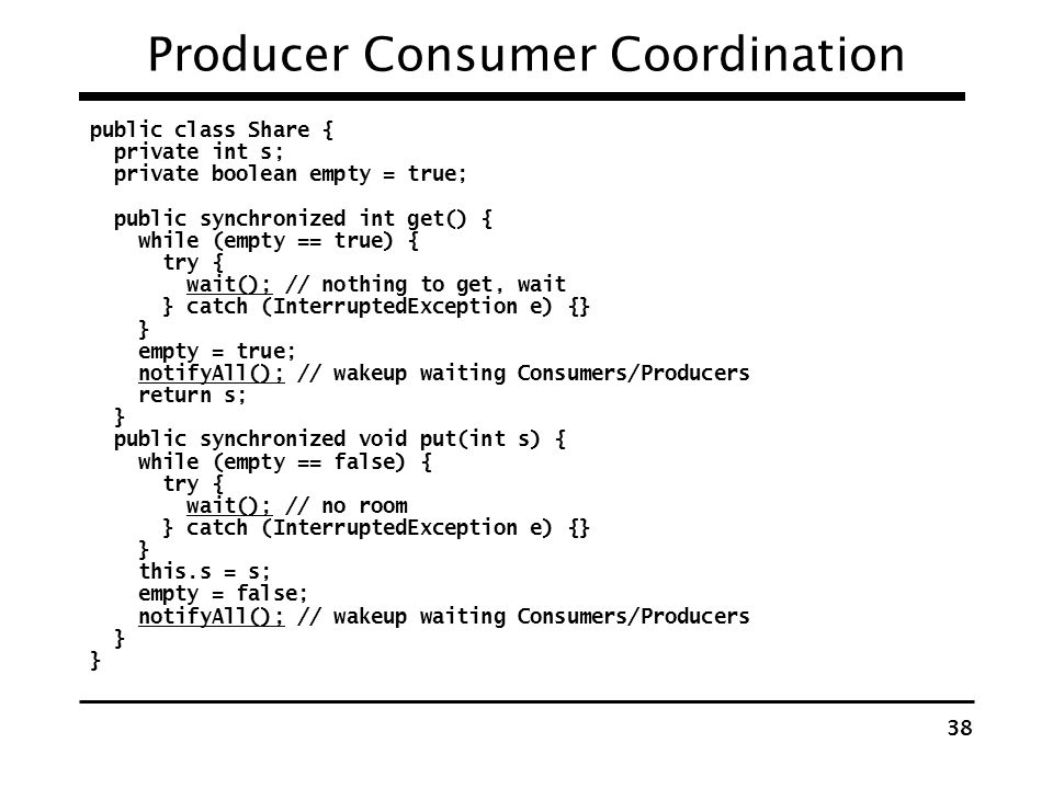 Producer Consumer Coordination