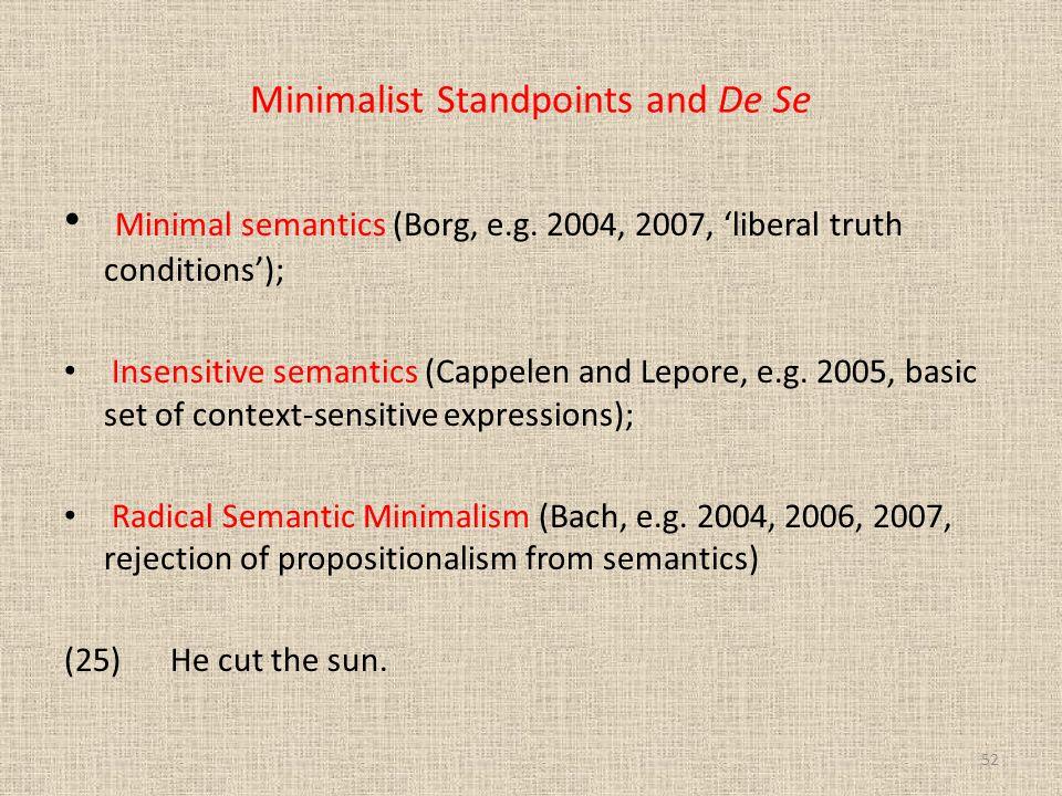 Minimalist Standpoints and De Se