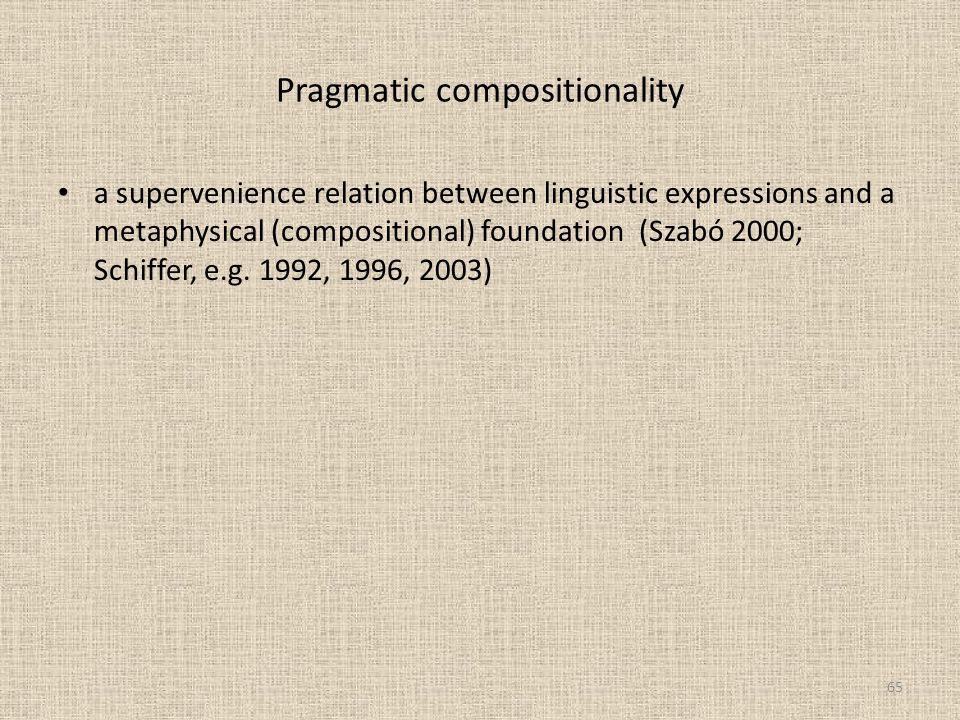 Pragmatic compositionality