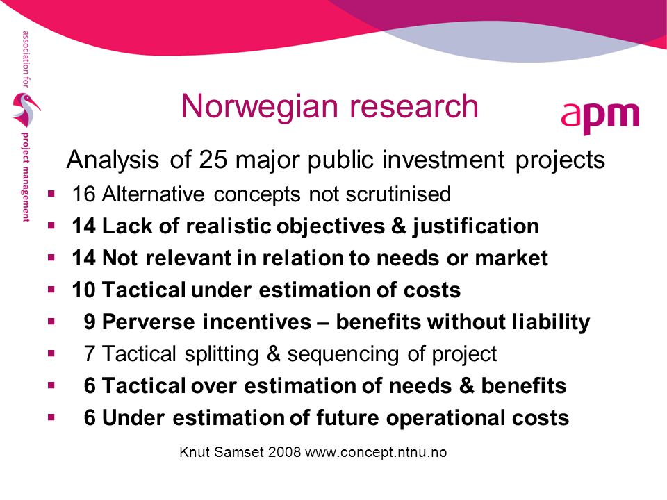 Analysis of 25 major public investment projects