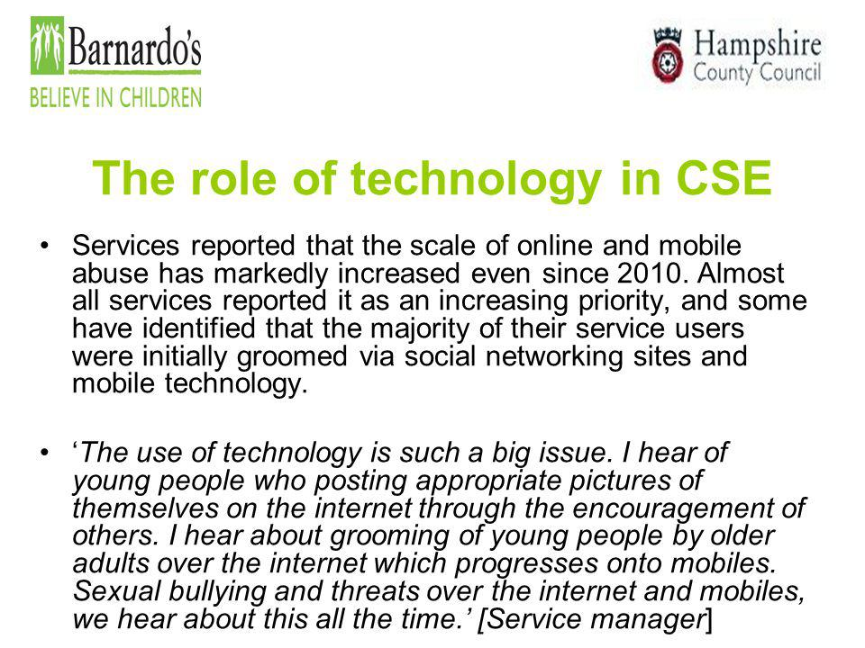 The role of technology in CSE