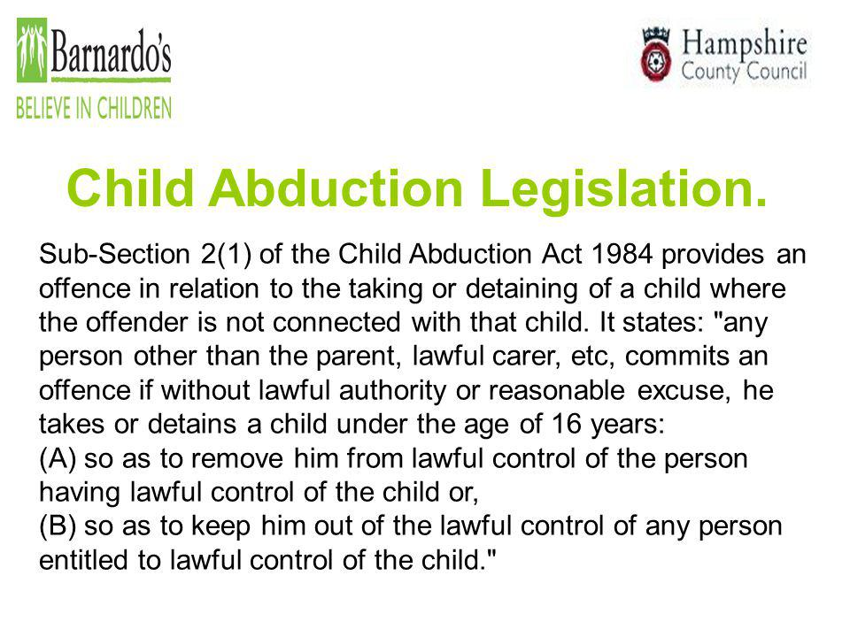 Child Abduction Legislation.