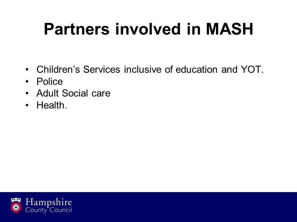 Partners involved in MASH