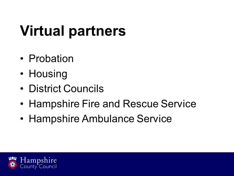 Virtual partners Probation Housing District Councils