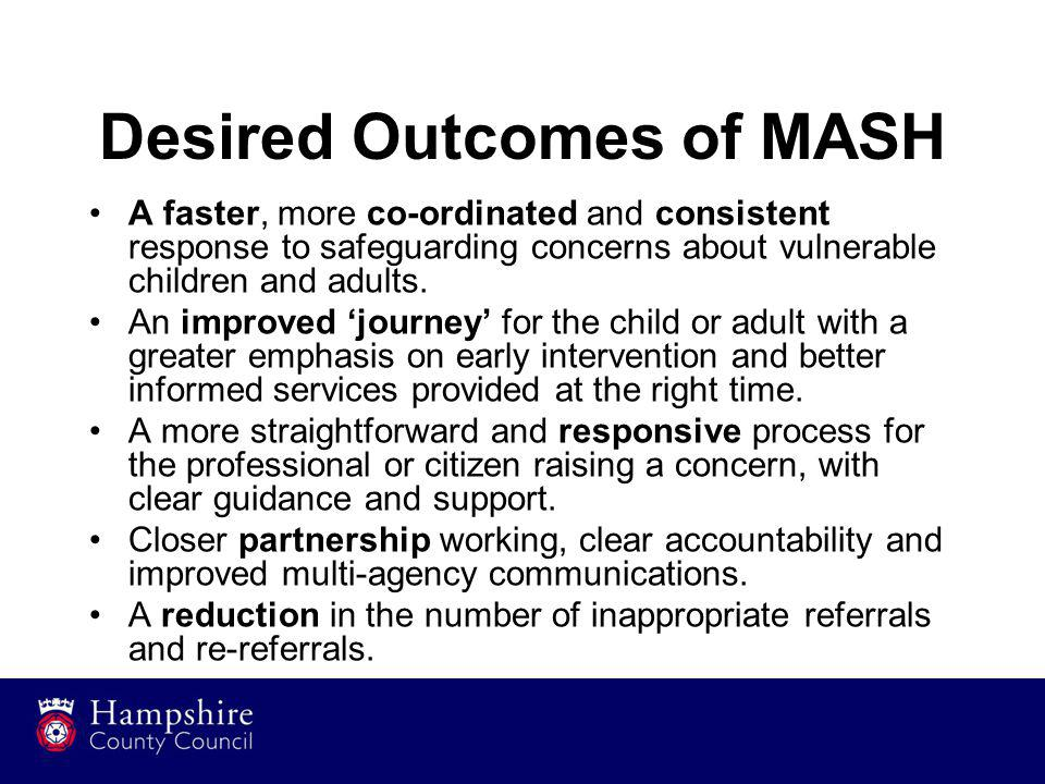Desired Outcomes of MASH