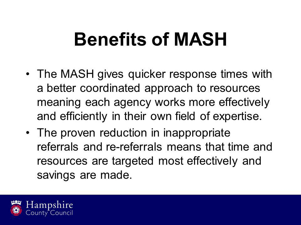 Benefits of MASH