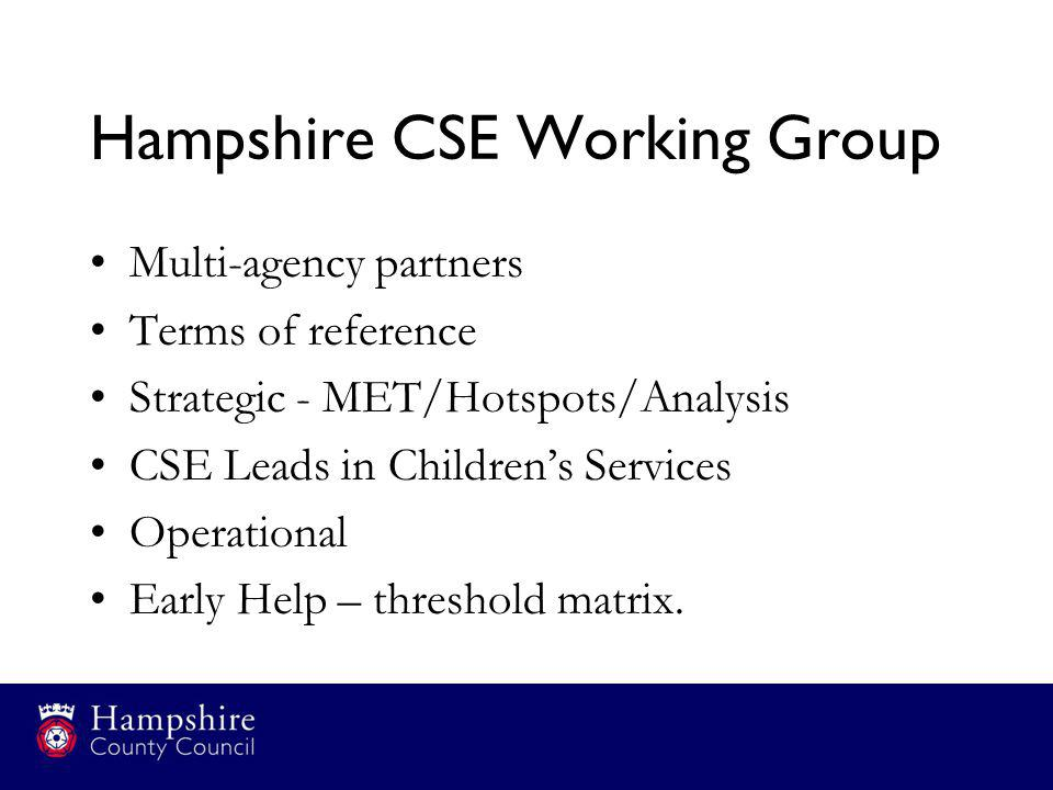 Hampshire CSE Working Group