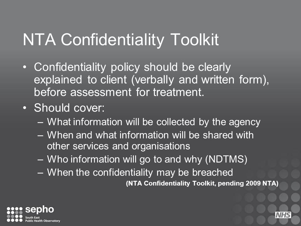 NTA Confidentiality Toolkit