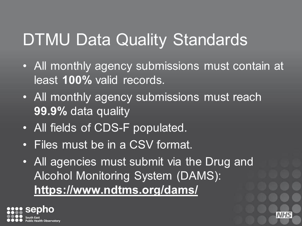 DTMU Data Quality Standards