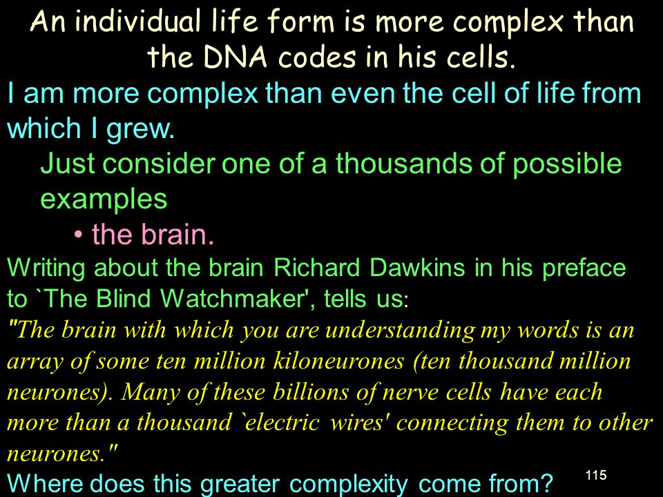 I am more complex than even the cell of life from which I grew.