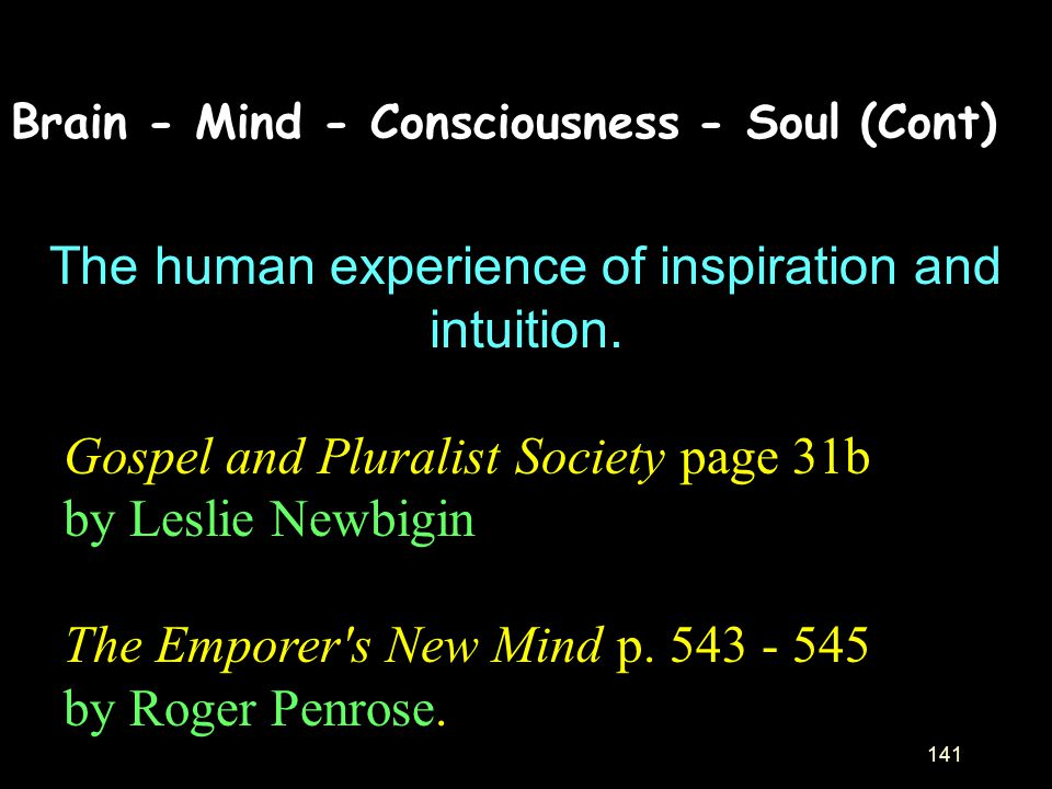 The human experience of inspiration and intuition.