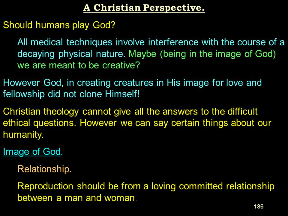 A Christian Perspective.