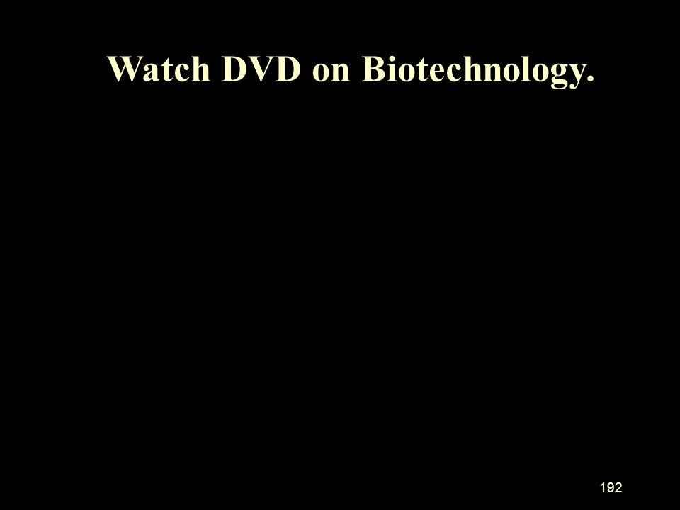 Watch DVD on Biotechnology.