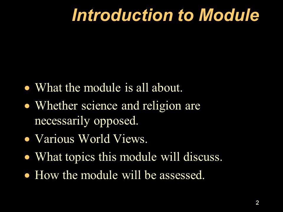 Introduction to Module