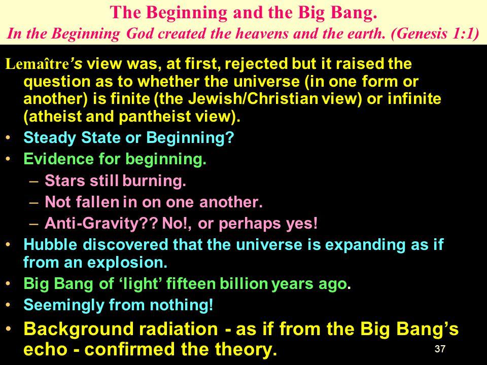 The Beginning and the Big Bang