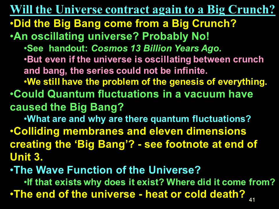 Will the Universe contract again to a Big Crunch