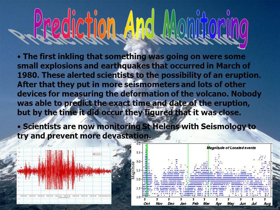 Prediction And Monitoring