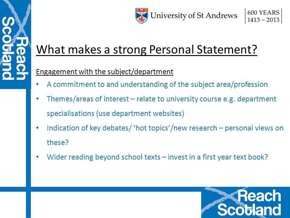 what makes a good personal statement for university Let the best experts turn a good personal statement into a masterpiece college or university order your winning personal mission statement and get.