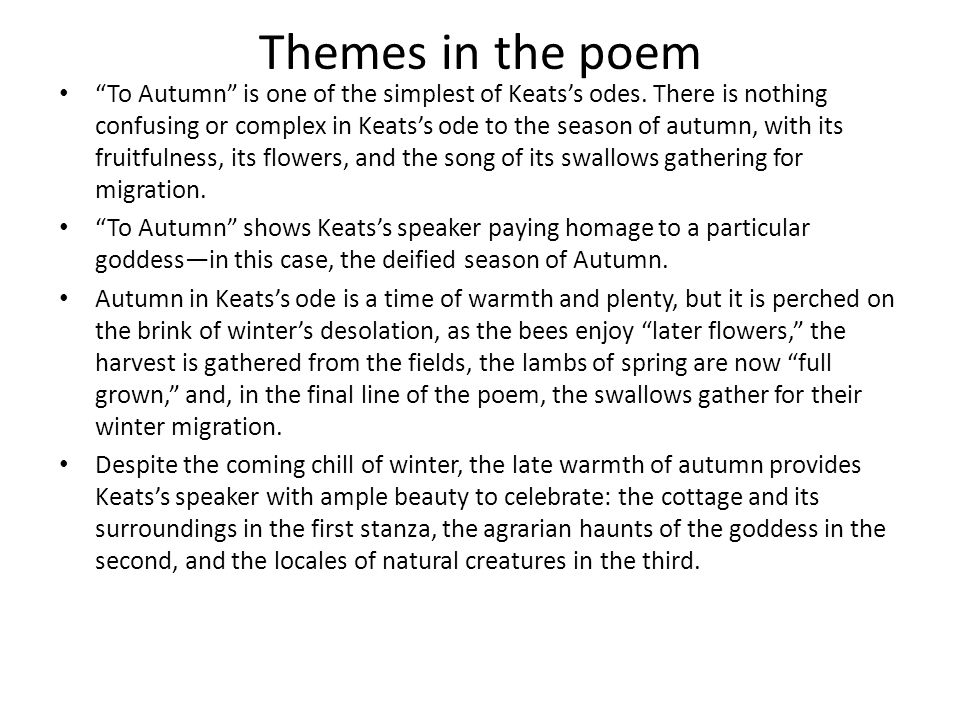 Themes in the poem