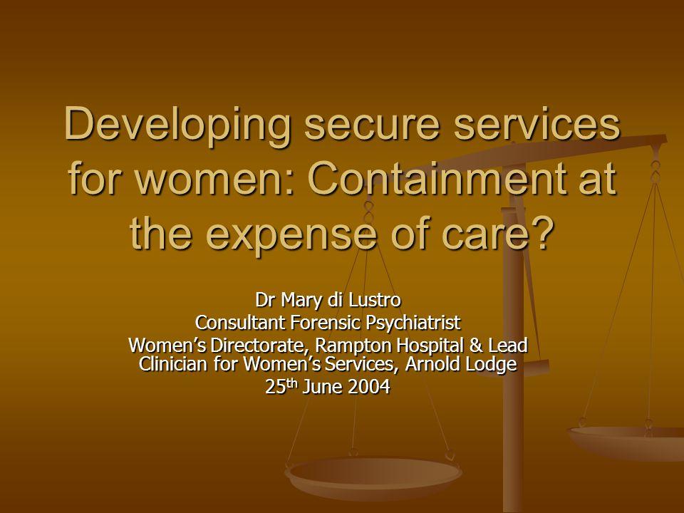 Consultant Forensic Psychiatrist