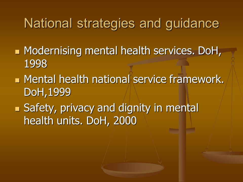 National strategies and guidance