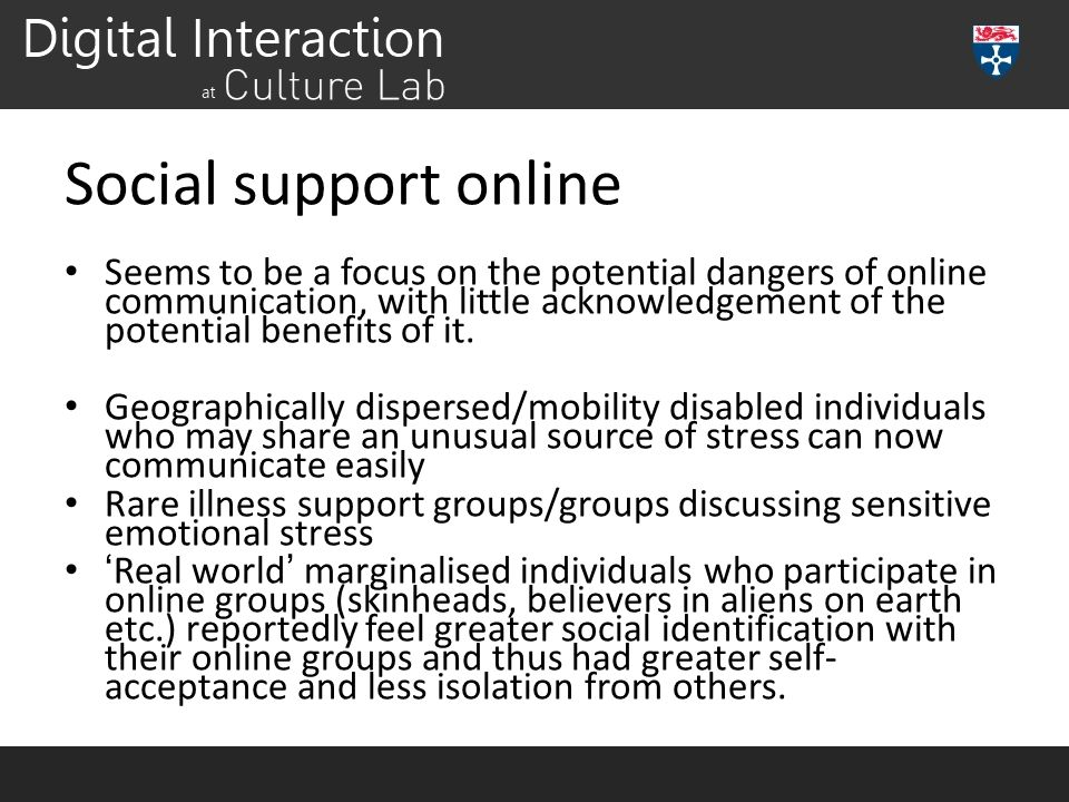 Social support online