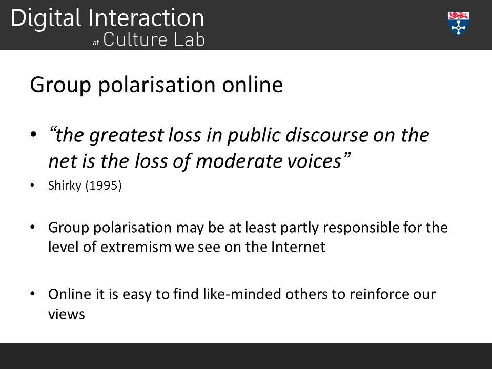 Group polarisation online