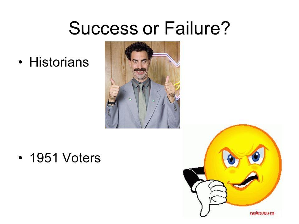 Success or Failure Historians 1951 Voters