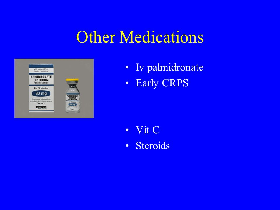 Other Medications Iv palmidronate Early CRPS Vit C Steroids