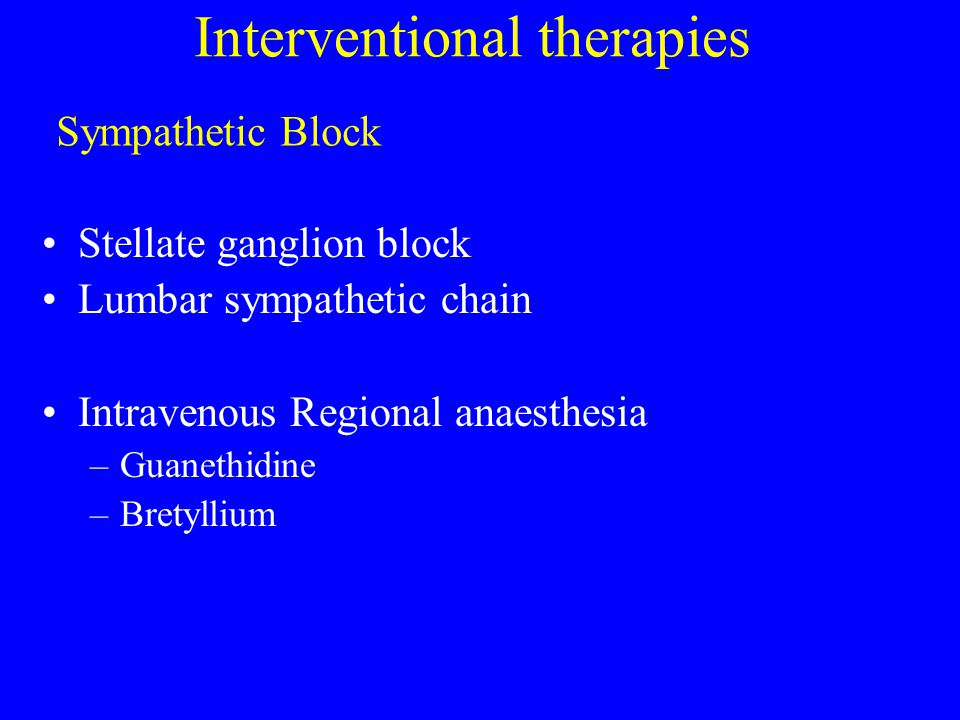 Interventional therapies