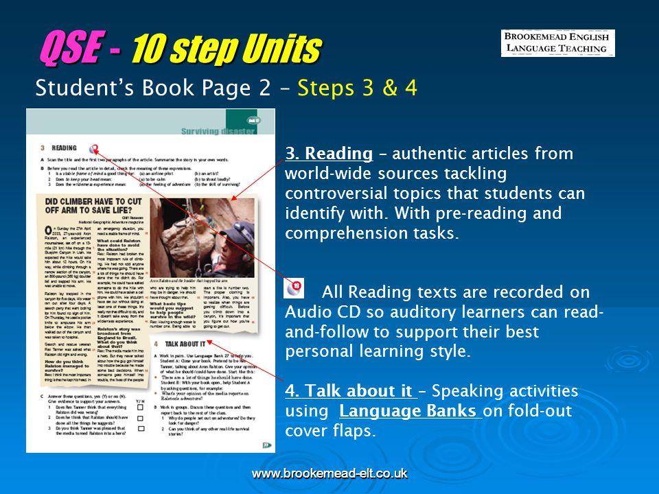 QSE - 10 step Units Student's Book Page 2 – Steps 3 & 4