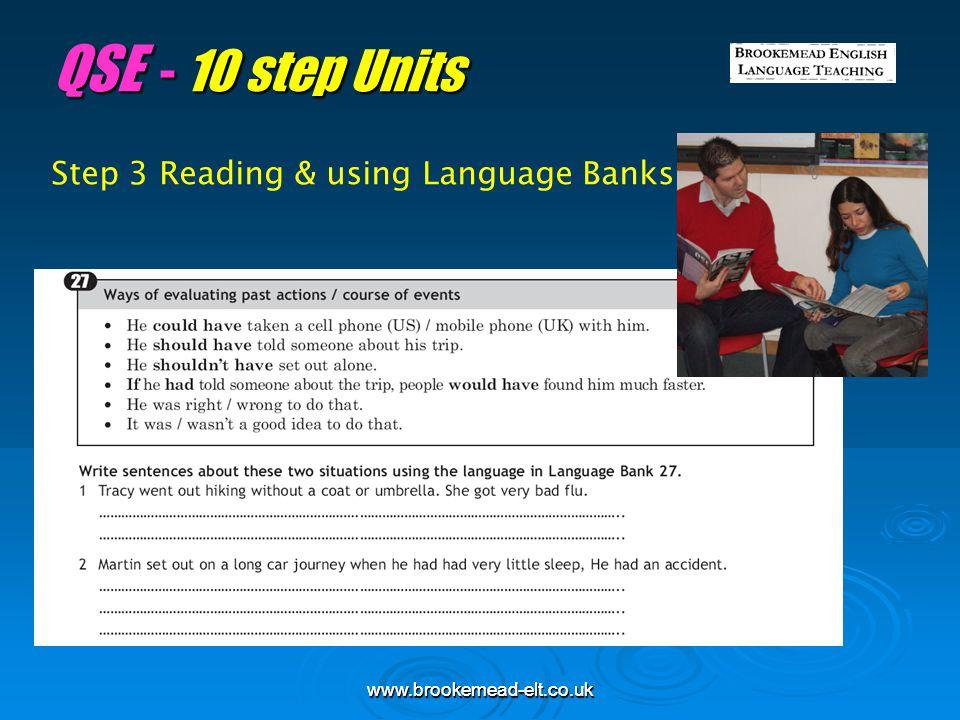 QSE - 10 step Units Step 3 Reading & using Language Banks