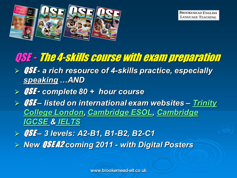 QSE - The 4-skills course with exam preparation